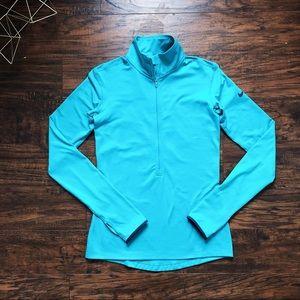 Nike • turquoise Dri-Fit 1/4 zip pullover fleece
